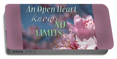 An Open Heart Knows No Limits Portable Battery Charger