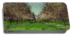 An Orchard In Blossom In The Eila Valley Portable Battery Charger