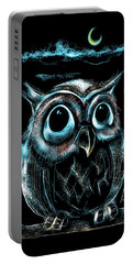 An Owl Friend Portable Battery Charger by Alessandro Della Pietra