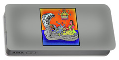 Anantha Sayanam-patta Chitra Style Portable Battery Charger