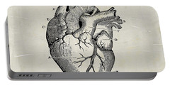 Anatomical Heart Medical Art Portable Battery Charger