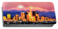 Portable Battery Charger featuring the digital art Anchorage - Bright-named by Elaine Ossipov