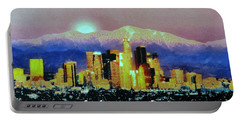 Portable Battery Charger featuring the digital art Anchorage-subdued by Elaine Ossipov