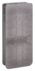 Anchored In Fog #1 Portable Battery Charger by Wally Hampton