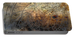 Portable Battery Charger featuring the digital art Ancient Astrology Clock by Marianna Mills
