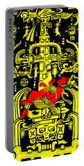 Ancient Astronaut Yellow And Red Version Portable Battery Charger