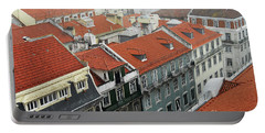 Ancient Buildings At Lisbon. Portugal Portable Battery Charger
