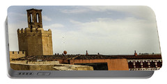Ancient Moorish Citadel In Badajoz, Spain Portable Battery Charger