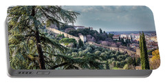Ancient Walls Of Florence Portable Battery Charger by Sonny Marcyan