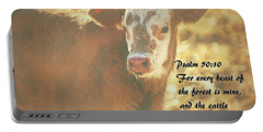 And The Cattle Portable Battery Charger by Janice Rae Pariza