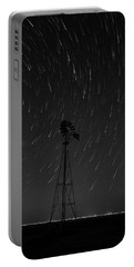 And The Stars Rained Down Black And White Portable Battery Charger by Karen Slagle