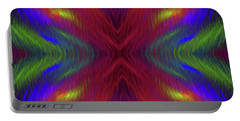 Portable Battery Charger featuring the digital art Andee Design Abstract 1 2015 by Andee Design