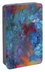 Portable Battery Charger featuring the digital art Andee Design Abstract 1 2017 by Andee Design