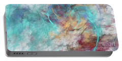 Portable Battery Charger featuring the digital art Andee Design Abstract 4 2015 by Andee Design