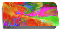Portable Battery Charger featuring the digital art Andee Design Abstract 5 2015 by Andee Design