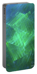Portable Battery Charger featuring the digital art Andee Design Abstract 53 2017 by Andee Design