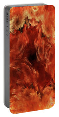 Portable Battery Charger featuring the digital art Andee Design Abstract 59 2017 by Andee Design