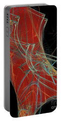 Portable Battery Charger featuring the digital art Andee Design Abstract 60 2017 by Andee Design