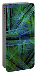 Portable Battery Charger featuring the digital art Andee Design Abstract 61 2017 by Andee Design