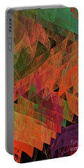 Portable Battery Charger featuring the digital art Andee Design Abstract 62 2017 by Andee Design