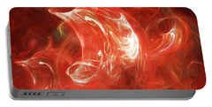 Portable Battery Charger featuring the digital art Andee Design Abstract 64 2017 by Andee Design