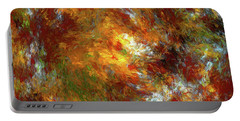 Portable Battery Charger featuring the digital art Andee Design Abstract 69 2017 by Andee Design