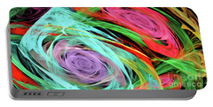 Portable Battery Charger featuring the digital art Andee Design Abstract 7 2015 by Andee Design