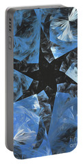 Portable Battery Charger featuring the digital art Andee Design Abstract 71 2017 by Andee Design