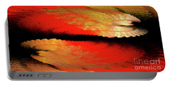 Portable Battery Charger featuring the digital art Andee Design Abstract 77 2017 by Andee Design