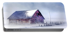 Portable Battery Charger featuring the painting Anderson Dock Winter Storm by Christopher Arndt