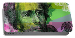 Portable Battery Charger featuring the digital art Andrew Jackson - $20 Bill by Jean luc Comperat