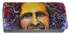 Portable Battery Charger featuring the painting Andy Frasco by David Sockrider