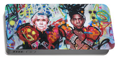 Andy Warhol And Jean-michel Basquiat Portable Battery Charger