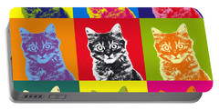 Andy Warhol Cat Portable Battery Charger