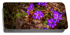 Anemone Hepatiea #g3 Portable Battery Charger by Leif Sohlman