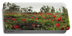 Portable Battery Charger featuring the photograph Anemones Forest Panorama by Yoel Koskas