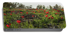 Portable Battery Charger featuring the photograph Anemones Forest by Yoel Koskas