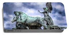 Angel And Chariot With Horses Portable Battery Charger by Sonny Marcyan