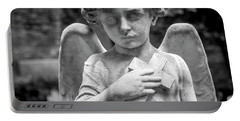 Portable Battery Charger featuring the photograph Angel And Cross by Sonny Marcyan