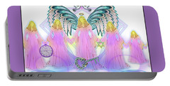 Portable Battery Charger featuring the digital art Angel Cousins #198 by Barbara Tristan