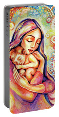 Portable Battery Charger featuring the painting Angel Dream by Eva Campbell