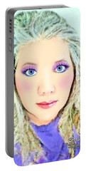Portable Battery Charger featuring the photograph Angel Eyes by Barbara Tristan