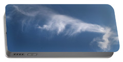 Portable Battery Charger featuring the photograph Angel Flight In Blue Sky by Jenny Rainbow