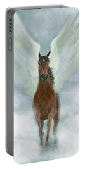 Angel Horse Running Free Across The Heavens Portable Battery Charger