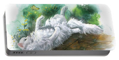 Portable Battery Charger featuring the painting Angel In The Morning by Sherry Shipley