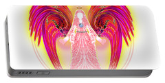 Portable Battery Charger featuring the digital art Angel Intentions Divine Timing by Barbara Tristan