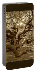 Angel Oak In Sepia Portable Battery Charger by Suzanne Gaff