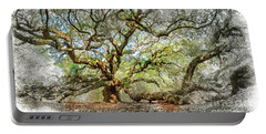Angel Oak Mixed Media Portable Battery Charger