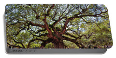 Angel Oak Tree 009 Portable Battery Charger by George Bostian