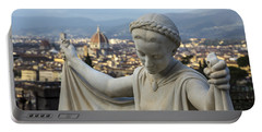 Portable Battery Charger featuring the photograph Angel Of Firenze by Sonny Marcyan